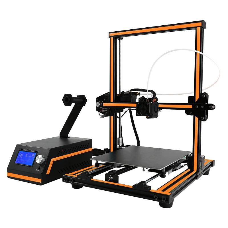 Анет E12 идеально Дизайн полусобранном 3d принтер машина дистанционного кормления 12864 ЖК дисплей Экран Impressora 3d наиболее популярные прочный 3d