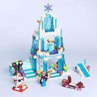 JG301 Anna Elsa Snow Queen Elsa S Sparkling Ice Castle SY373 Building Blocks Brick Toys For