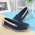 Nuevos Zapatos de Las Mujeres Zapatos Del Barco de La Moda Femenina de Cuero de Gamuza Bajo Top Zapatos Al Aire Libre Antideslizantes Mujeres Pisos B230