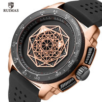 RUIMAS Silicone Relógios de Quartzo Dos Homens Top Marca de Luxo Relógio Militar Do Exército Sports Relógio de Pulso para Homem Relogios Masculino RN554 Subiu