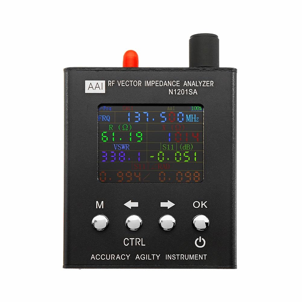 Inglese Verison N1201SA 140 MHz-2.7 GHz UV RF Impedenza di Vettore ANT SWR Antenna Analyzer Tester del Tester