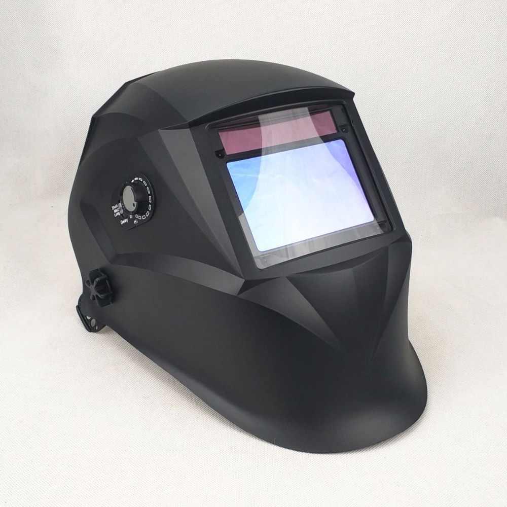 """Сварочная маска лучшее оптическое качество 1/1/1/1 большой вид 3,94x2,56 """"100x65 мм широкий диапазон теней DIN (3) 4-13 CE сварочный шлем на солнечных батареях"""
