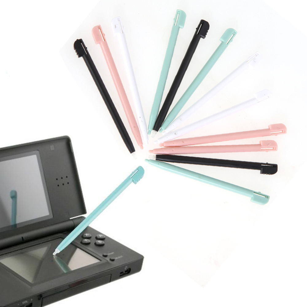 12PCS/Lot Colorful Metal Stylus Touch Stylus Pen for NINTENDO DS LITE DSL Video Game Accessory