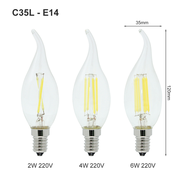 1pcs E27 E14 LED Filament Bulb Dimmable 2W 4W 6W 8W Retro Vintage Glass G45 A60 Edison Lamp 220V Ampoule Candle Light Chandelier