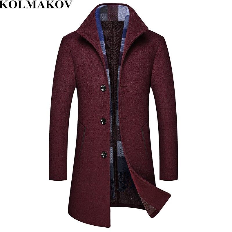 Wool & Blends 2019 Spring New Mens Woolen Jackets Trench Coat Men Mandarin Collars Windbreaker Spring Woolen Overcoat Homme Full Size M-3xl The Latest Fashion