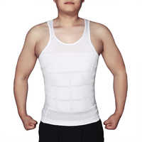 Men's Slimming Body Shapewear Corset Vest Shirt Compression Abdomen Tummy Belly Control Slim Waist Underwear drop