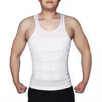 Men's Slimming Body Shapewear Corset Vest Shirt Compression Abdomen Tummy Belly Control Slim Waist Underwear drop