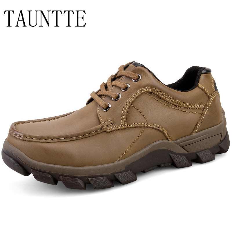 Tauntte Winter Genuine Leather Men Shoes Breatahble Anti-Odor Casual Shoes Plus Size fashion men boat shoes genuine leather casual shoes breathable male anti odor casual shoes