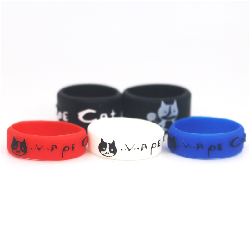 On sale 22*7 mm Silicone Vape Band o ring Ecig Vapeband for ego aio subtank mini tfv4 tank etc OEM logo available 331332 mixed