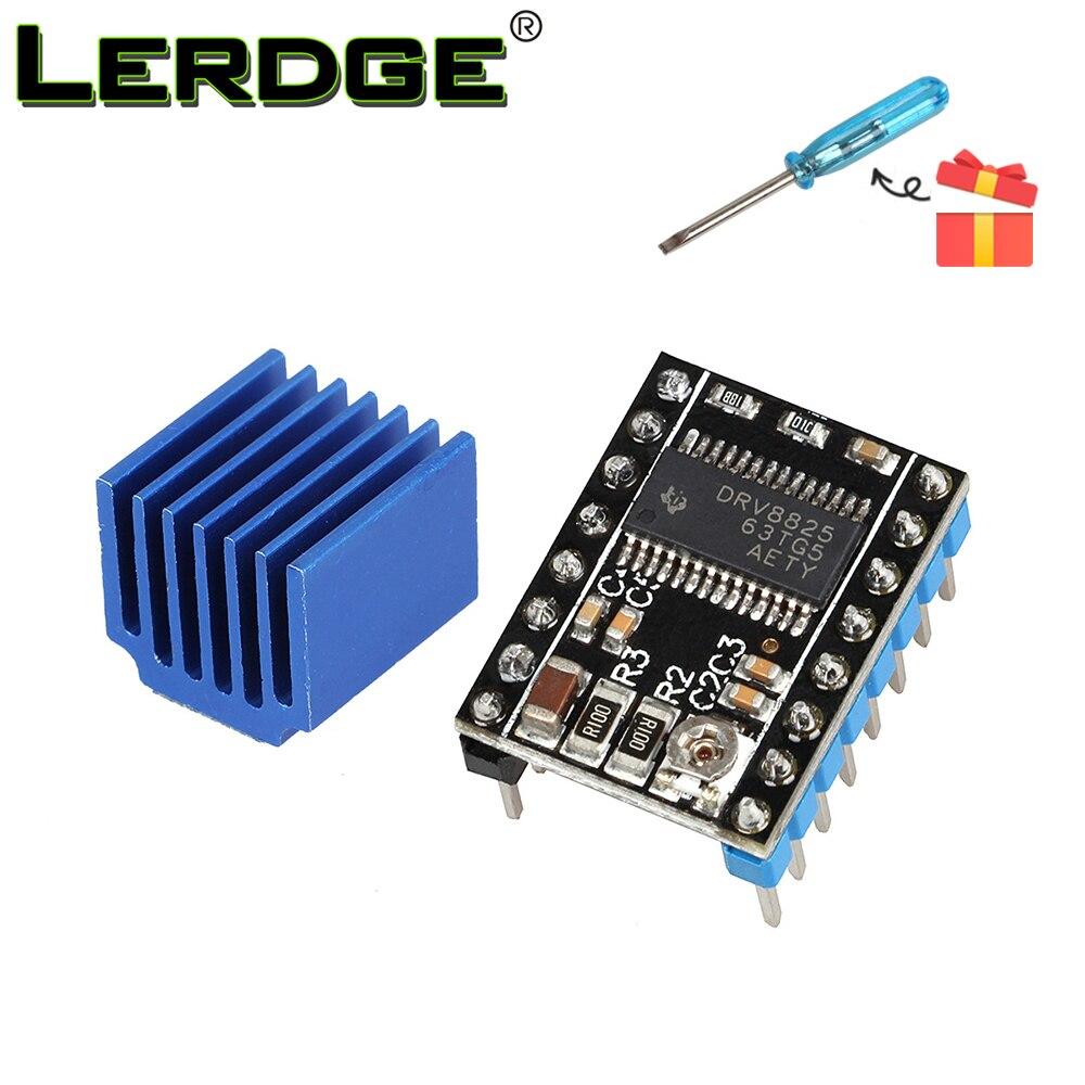 LERDGE 3D מדפסת סטפסטיק אביזרים Drv8825 Stepper Motor Driver מודול הספק Reprap 4 שכבת PCB RAMPS להחליף A4988