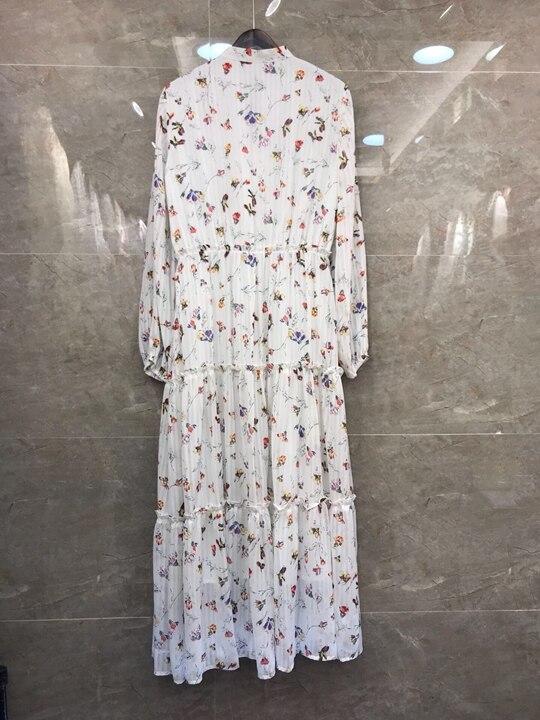 Pour Le Connecter Vêtements 2019 Tempérament Nouveau Femmes À Manches Robe Imprimé Longues 310 rFwFtqx