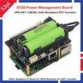52Pi X720 Плата расширения управления питанием с шляпой UPS (18650 не входят в комплект) безопасное отключение алюминиевый корпус для Raspberry Pi 3B +/3B