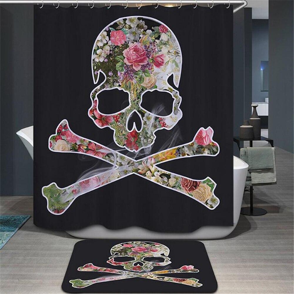 Skull Bathroom Decor Online Get Cheap Halloween Shower Curtain Aliexpresscom