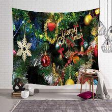 Рождественское искусство настенный гобелен орнамент Санта олень