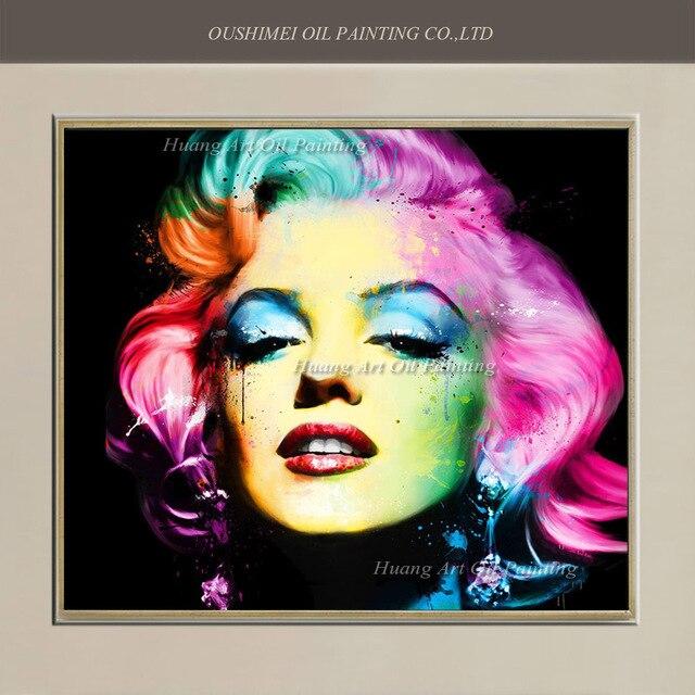 Calidad del Museo Marilyn Monroe estrella pintura al óleo moderna ...