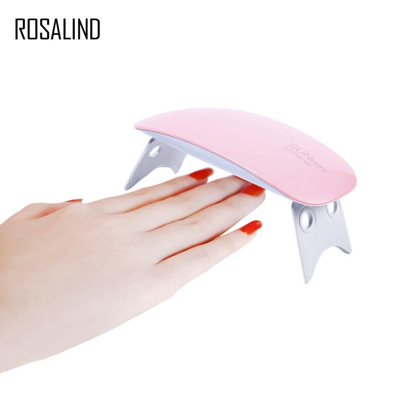 ROSALIND SUNmini2 lámpara de uñas UV LED secador de uñas curado uñas de Gel UV polaco secador de ratón portátil en forma de uñas arte herramienta