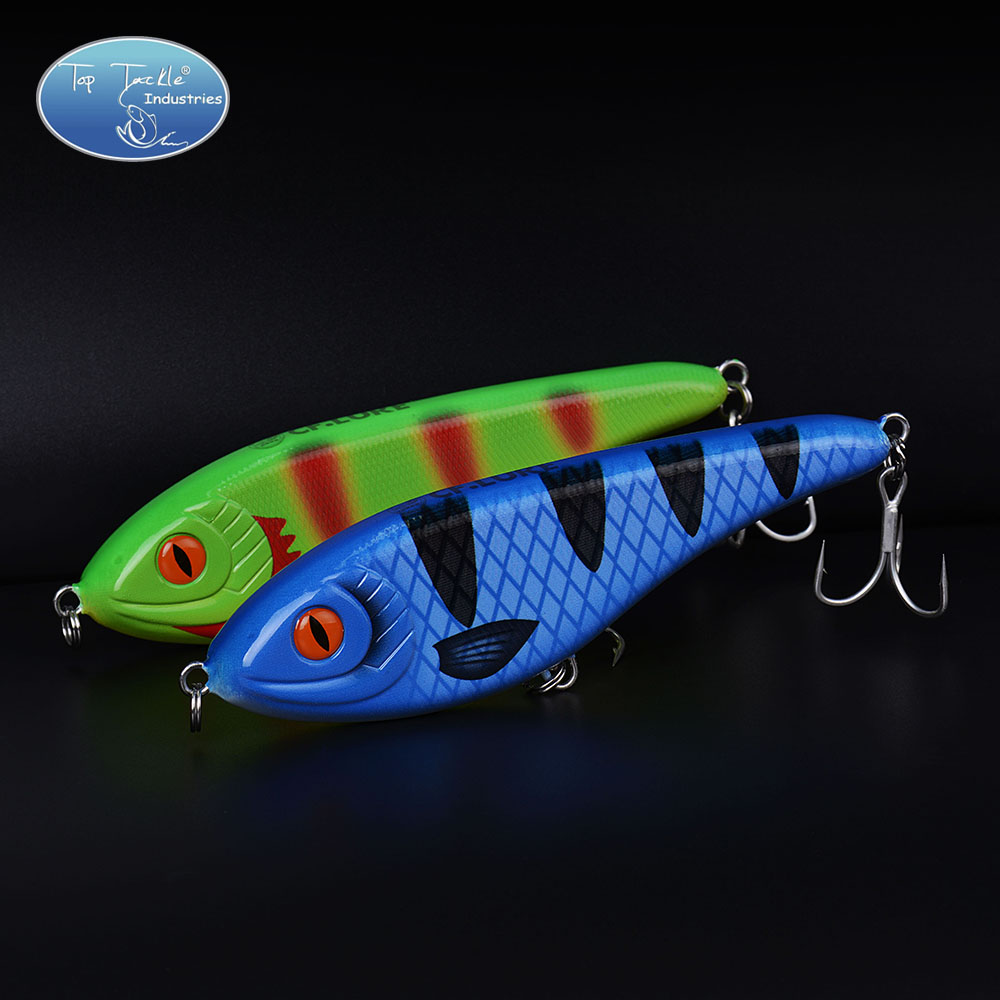 Hot Muskie Pike Taimen Kunstig Hard Jerk Bait Fishing Lure kvalitet + Jerkbait Slow Sinking 150mm 76.5g