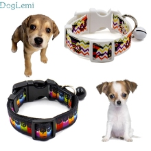 Dog collar doglemi Pets Acessorios  Pet Hot New festival Halloween skeleton pattern Supplies Traction Rope Collar bell