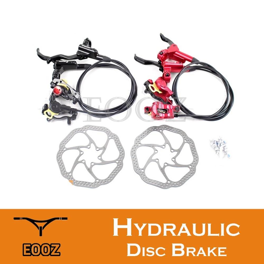 ZOOM MTB Mountain Bike Bicycle hydraulic disc brake set Alloy Caliper Adaptor Lever Hose rotors w