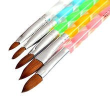 2015 New 5Pcs 3D Acrylic Design  Nail Art Salon Painting Drawing UV Gel DIY Brushes Pens Tool  Set For Beauty Decorations 6FHW