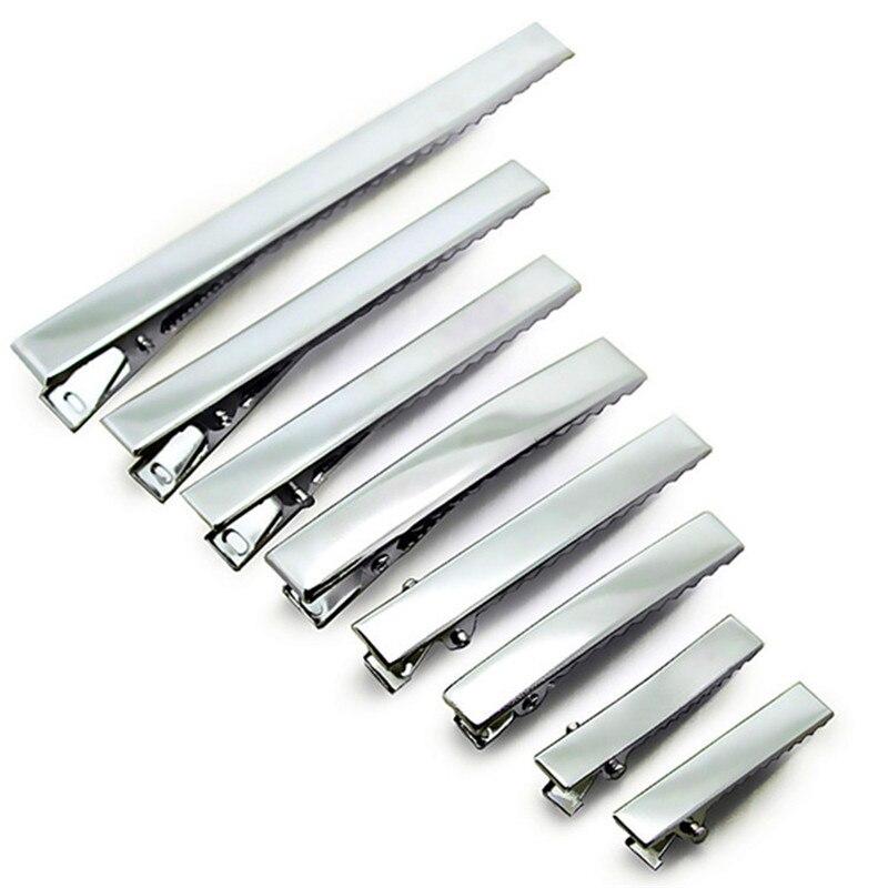 100pcs PRONG ALLIGATOR ALIGATOR CLIPS HAIR BOWS METAL HAIR Clip Accessories