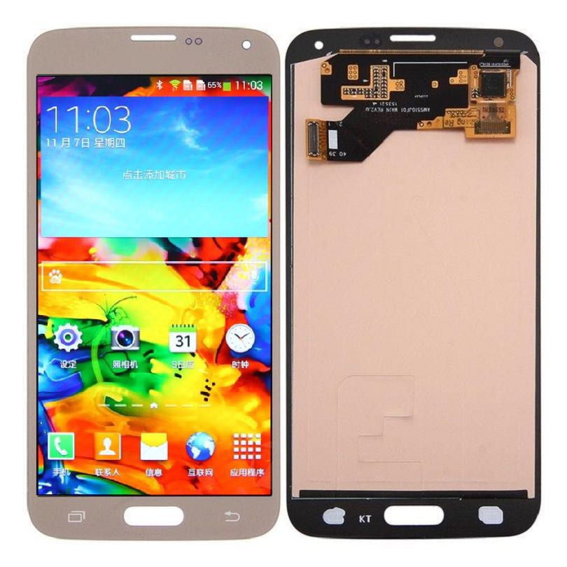"5.1"" SUPER AMOLED LCD For SAMSUNG Galaxy S5 LCD Display i9600 G900 G900F G900M G900H SM-G900F Touch Screen Digitizer"