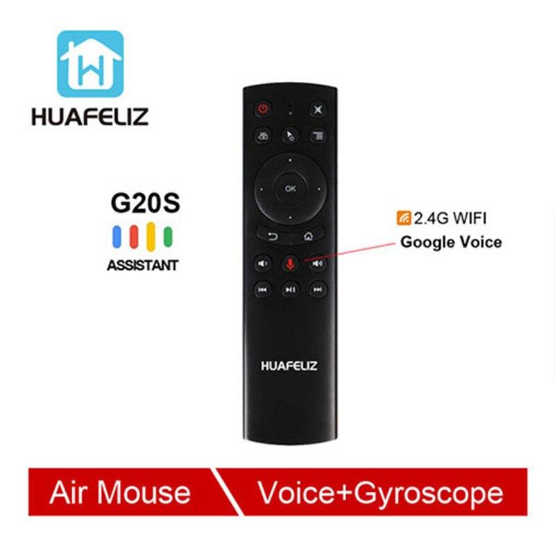 G20 controle de voz 2.4g sem fio g20s voar ar mouse gyro teclado detecção movimento mini controle remoto para android caixa tv pk g30