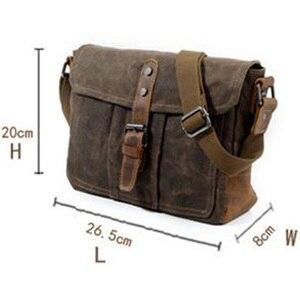 Image 5 - ABDB Crossbody MenS Shoulder Bag Waterproof Canvas Bag MenS Casual Messenger Bag