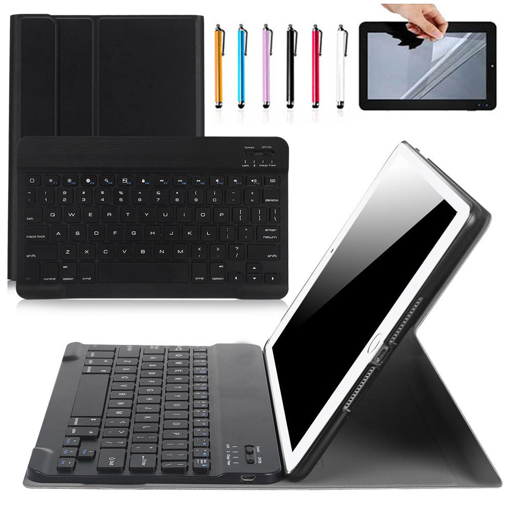 2 in 1 Removable wireless Bluetooth Keyboard + Litchi pattern PU Leather Case Cover For New iPad 2017 / Air / Air 2 /Pro 9.7 wireless removable bluetooth keyboard case cover touchpad for lenovo miix 2 3 300 10 1 thinkpad tablet 1 2 10 ideapad miix