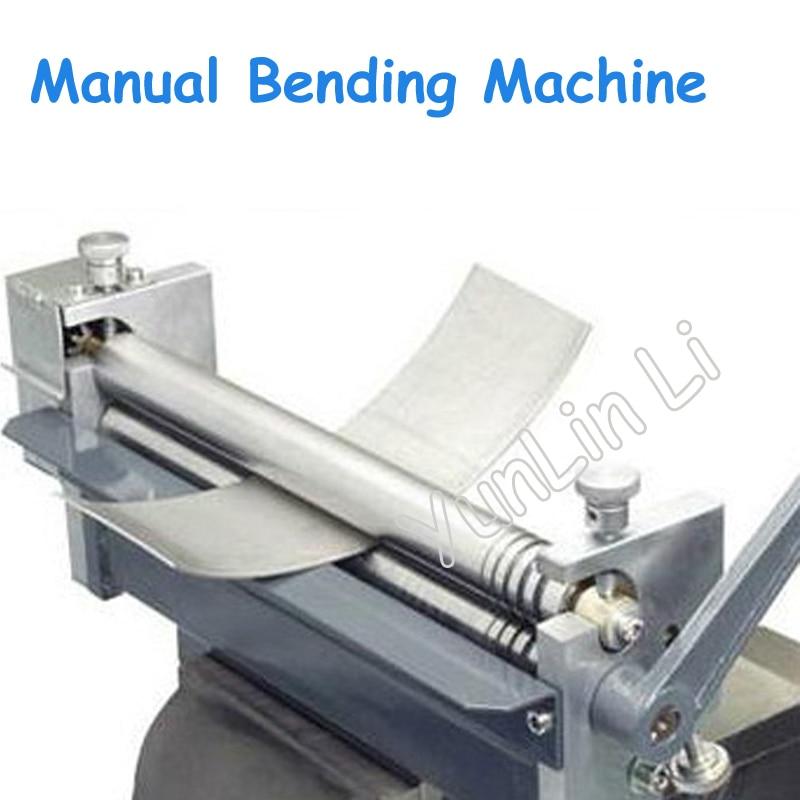 Manual Steel Plate Bending Machine Desktop Aluminum/Sheet Rolling Machine Metal Rolling Processing Machine HR-320 manual metal bending machine press brake for making metal model diy s n 20012