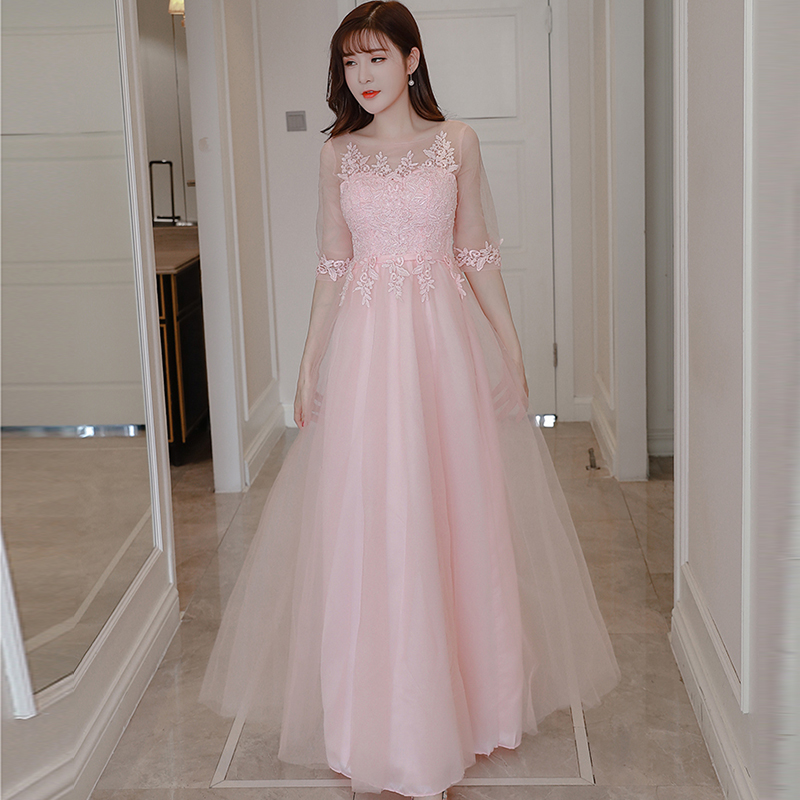 Beautiful Dresses To Wear To A Wedding: Clearance Sale Cheap Prom Dress Beautiful Half Sleeve Pink