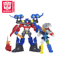 2019 16.5cm Transformers Toys Hero Mashers Electronic Optimus Prime PVC Action Figure Collection Model Doll Toy Light up Blade