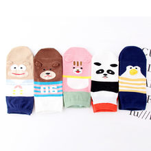 Ankle Sock Warmer School Students 1 Pair Women Cotton Socks Animal Character Print Women's Winter Socks Funny Various Color Sale(China)