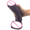 De silicona suave Super realista pene masculino artificial Dick MILF gran vibrador con ventosa adultos juguetes sexuales para masturbador para mujeres