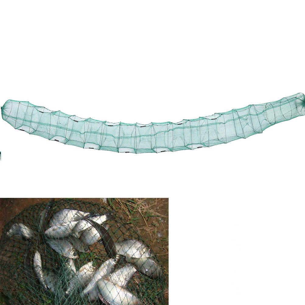 ใหม่แบบพกพาปูกุ้งกุ้งก้ามกรามกุ้งก้ามกราม Catcher กับดัก Live ปลาปลาหมึกยักษ์สุทธิกุ้ง Nets ตกปลาสุทธิพับ