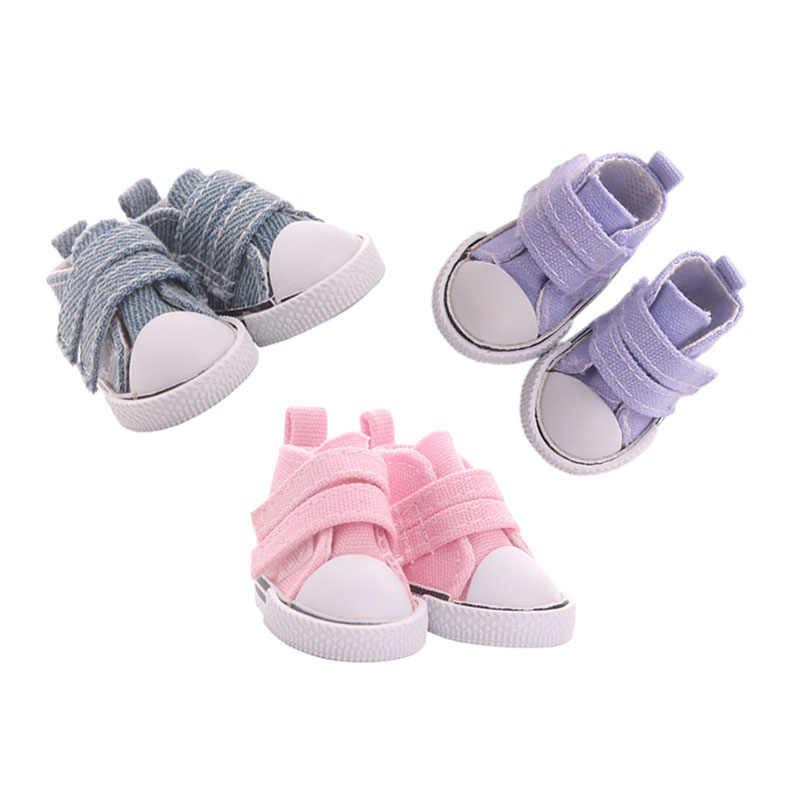 Velcro trendy sneakers sneakers loafers are comfortable and breathable for a 14.5-inch American doll
