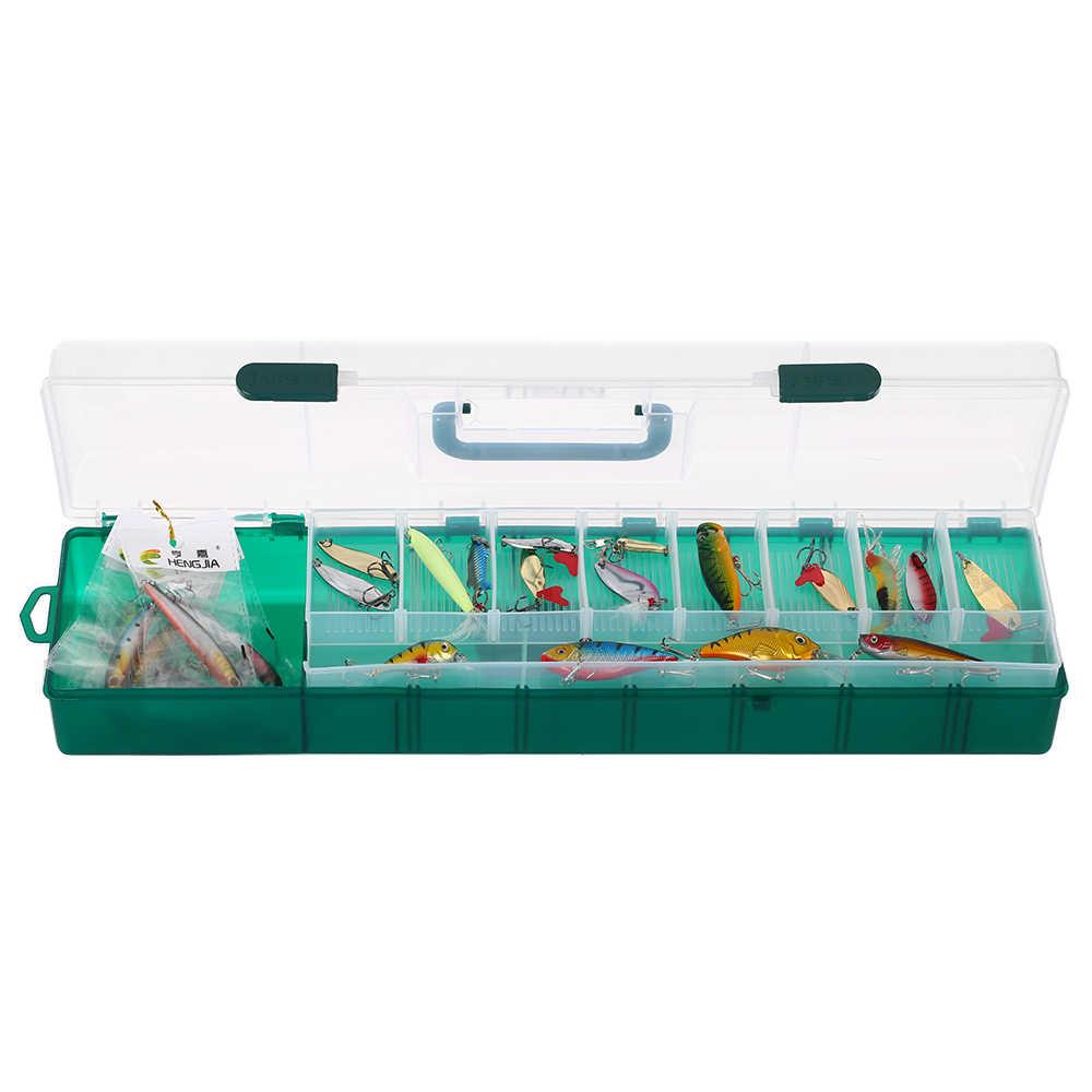 Lixada 2 طبقة مرئية واضحة صندوق معالجة الصيد الصيد إغراء الطعم السنانير ملحقات صيد سمك صندوق تخزين حالة الحاويات الكارب Pesca