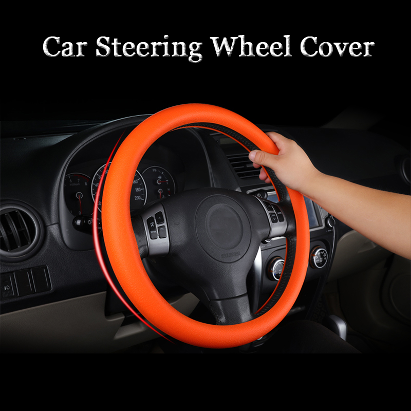 Car Styling Silicone Steering Wheel Glove Cover Automobiles Steering Wheel Hubs Accessories For Honda Toyota BMW LADA KIA etc.(China)