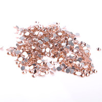 SS20 4.6 4.8mm,Champagne 1440pcs/bag Non HotFix FlatBack Rhinestones,glass glue on loose DIY nail crystals stones