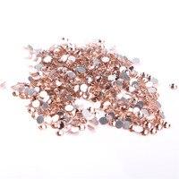 SS20 4.6 4.8mm,Champagne 1440pcs/bag Non HotFix FlatBack Rhinestones,glass glue on loose DIY nail crystals stones