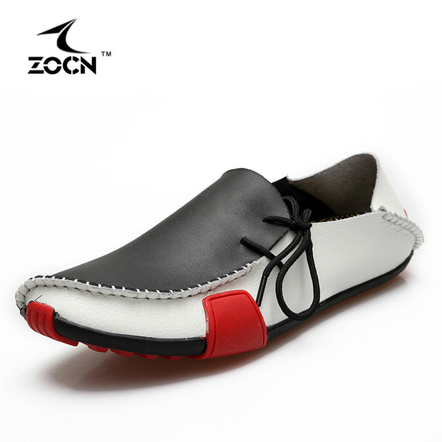 ZOCN Big Size 47 Loafers Men Flats Shoes Cow Split Leather Shoes Men Moccasins 5 Colours Men Casual Shoes Zapatos Hombre