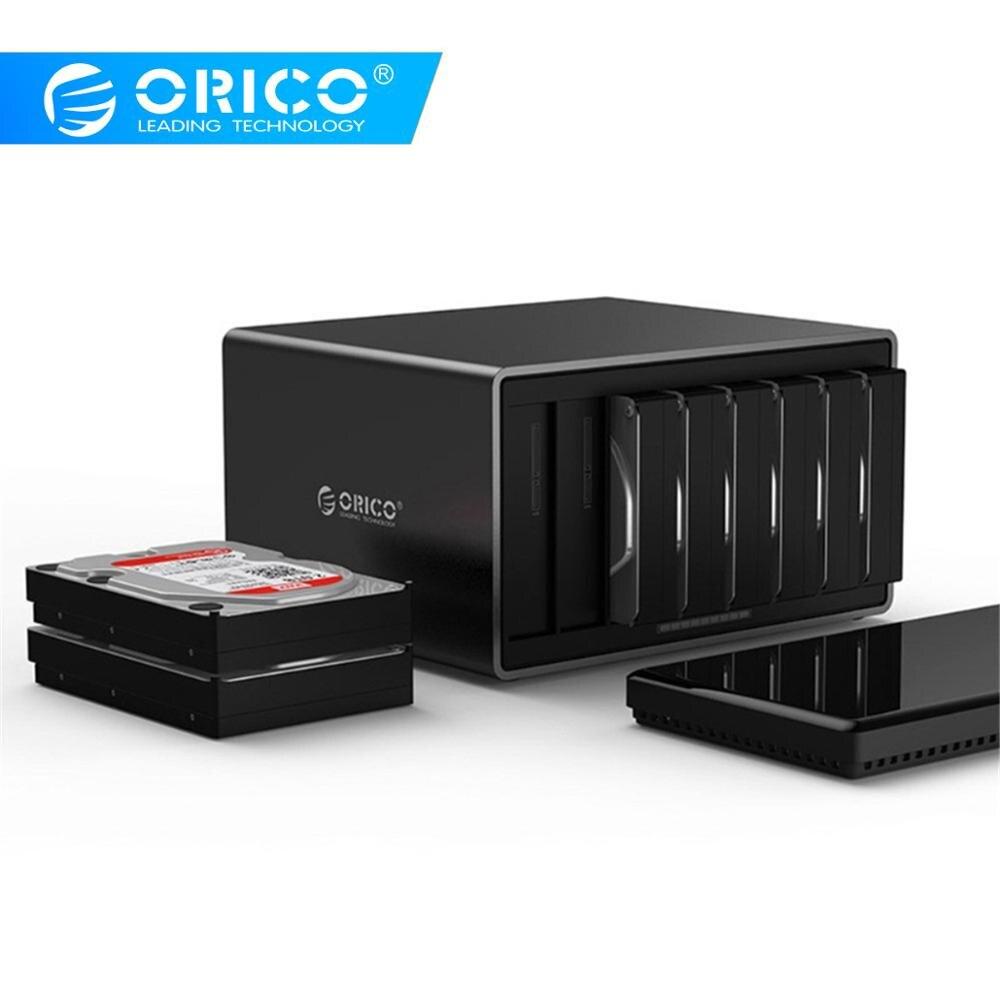 ORICO 3,5 pulgadas 8 Bay USB3.0 de alta velocidad herramienta gratuita Disco Duro carcasa para Windows para MacOS para Linux (NS800U3)