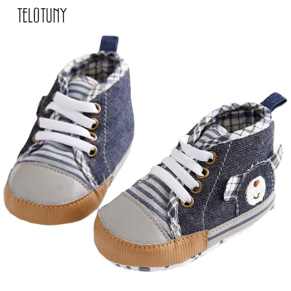 TELOTUNY Baby Denim Hight Cut Shoe Shoes Sneaker Anti-slip Soft Sole Toddler comfortable Cloth Denim Anti-slip S3FEB26