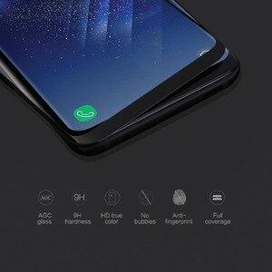 Image 2 - NILLKIN 9H Härte 3D Gebogene Rand Vollen Abdeckung Gehärtetem Glas für Samsung Galaxy S9 Plus S9 Screen Protector film 0,33mm 6,2