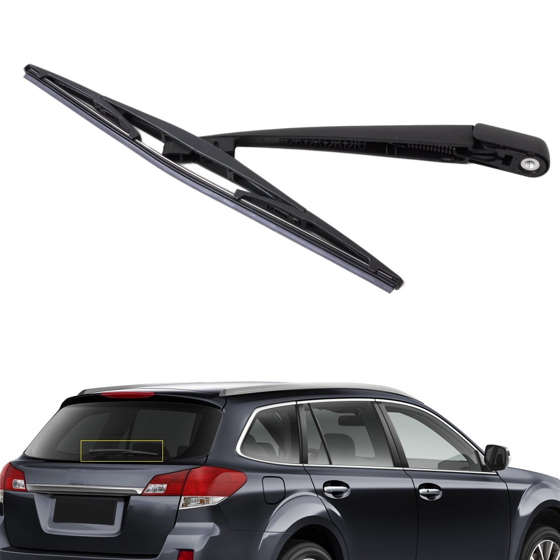 CITALL Rear Window Windshield Wiper Arm + Blade For <font><b>Subaru</b></font> Forester 2004 2005 Impreza 2005 Legacy <font><b>2006</b></font> <font><b>Outback</b></font> 2007 image