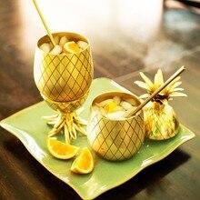 Ananas cocktail edelstahl cup Metall kupfer Tassen 900 ml