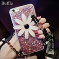 DIY beautiful sunflower pendant Daisy Mobile phone chain straps Mobile phone protective shell neck lanyard for all smartphones