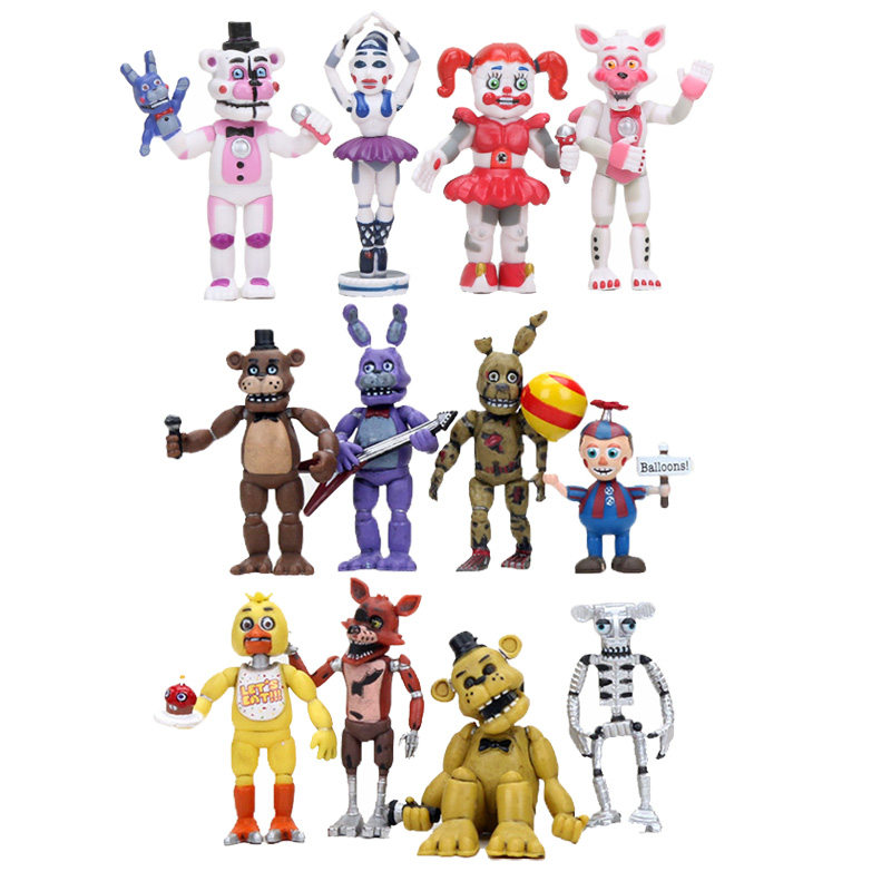 US $27 67 18% OFF|12pcs/set anime Five Nights at Freddy's figures pack 2