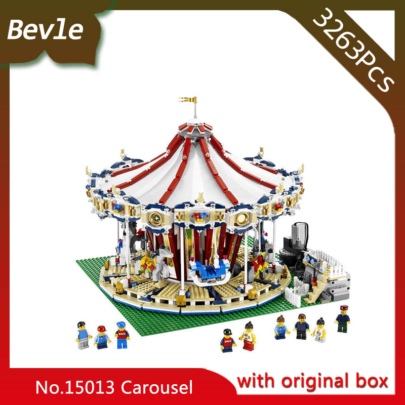 Bevle Store LEPIN 15013 3263Pcs with original box Street View series Carousel Building Blocks Bricks For Children Toys 10196 bevle store lepin 22001 4695pcs with original box movie series pirate ship building blocks bricks for children toys 10210 gift