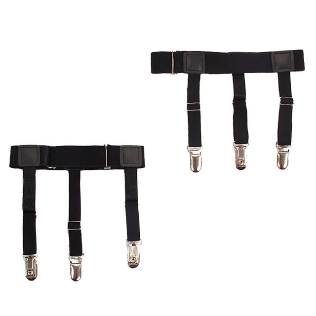 Mens Braces Shirt Garters Gentleman Leg Thigh Elastic Garter Belt Suspender  Shirt Styas